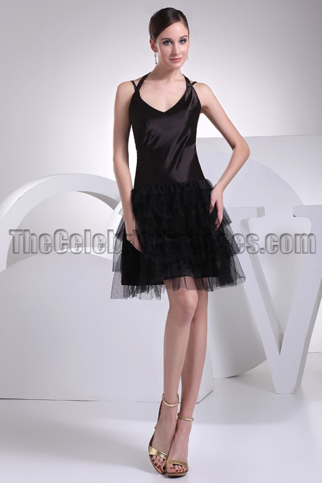 Cute Halter A-Line Little Black Dress Party Dresses ...
