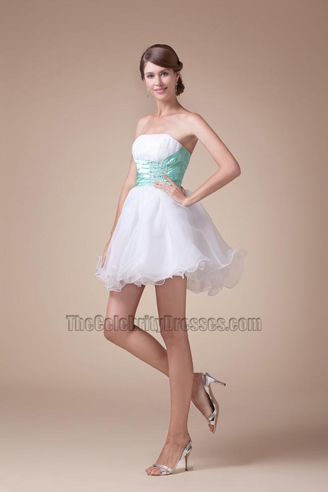 cute strapless short mini aline party sweet 16 dresses