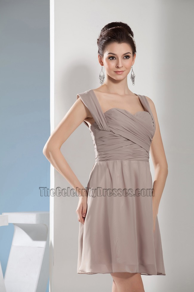 Discount Short Chiffon Party Cocktail Homecoming Dresses ...