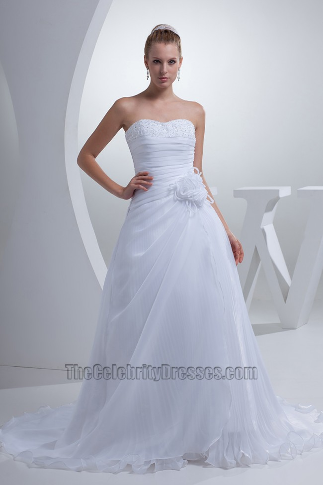 Discount strapless a line sweetheart chiffon wedding for Free wedding dress catalog