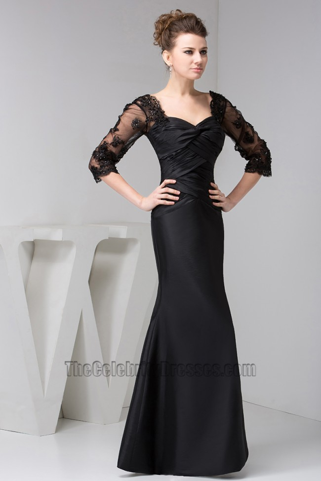 Elegant Black Trumpet Mermaid Formal Gown Evening Dresses