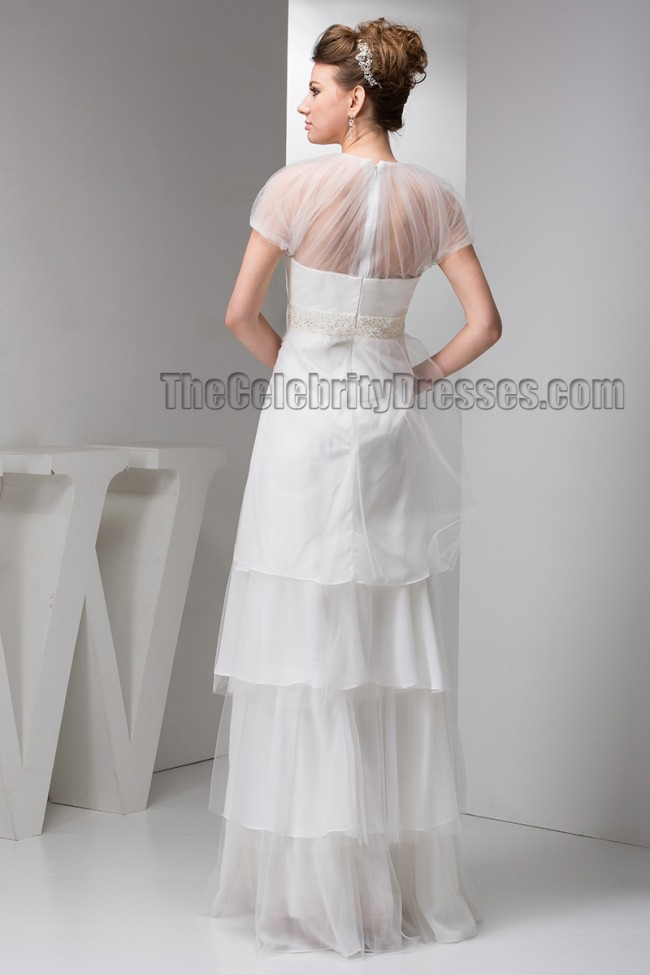 Floor length a line beaded bridal gown wedding dresses for Free wedding dress catalog