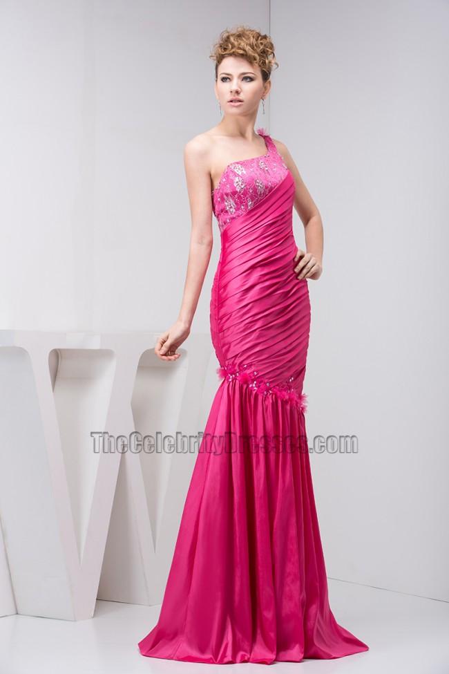 b58eacca8f41 Fuchsia One Shoulder Trumpet/Mermaid Evening Gown Prom Dress ...