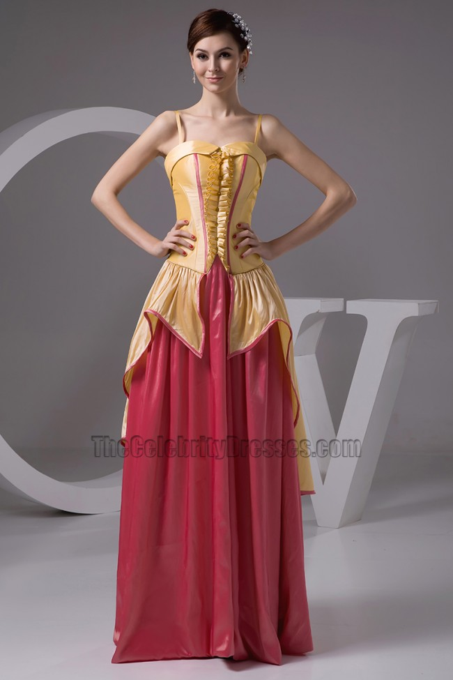 Gorgeous A Line Taffeta Formal Dress Prom Evening Gowns
