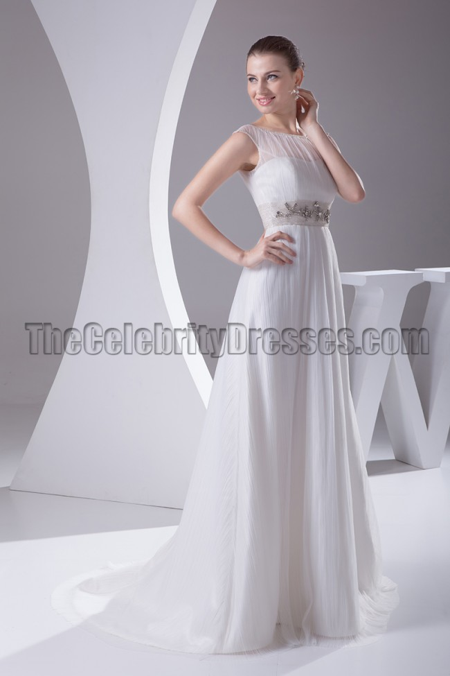 Beaded sleeveless a line bridal gown wedding dresses for Free wedding dress catalog