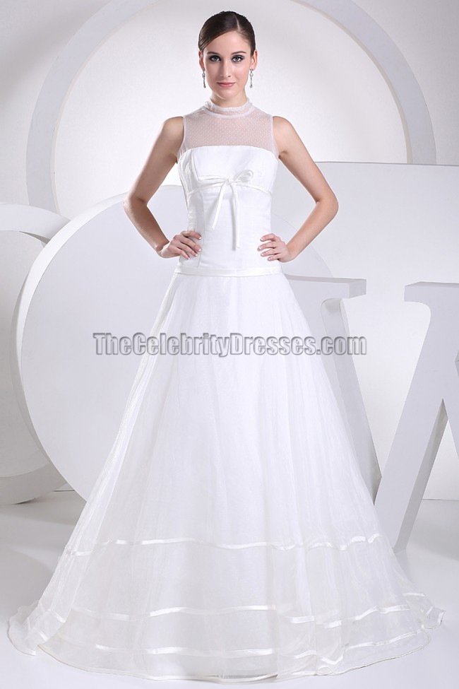 New Style Wedding Dress: New Style Tulle A-Line Chapel Train Wedding Dress