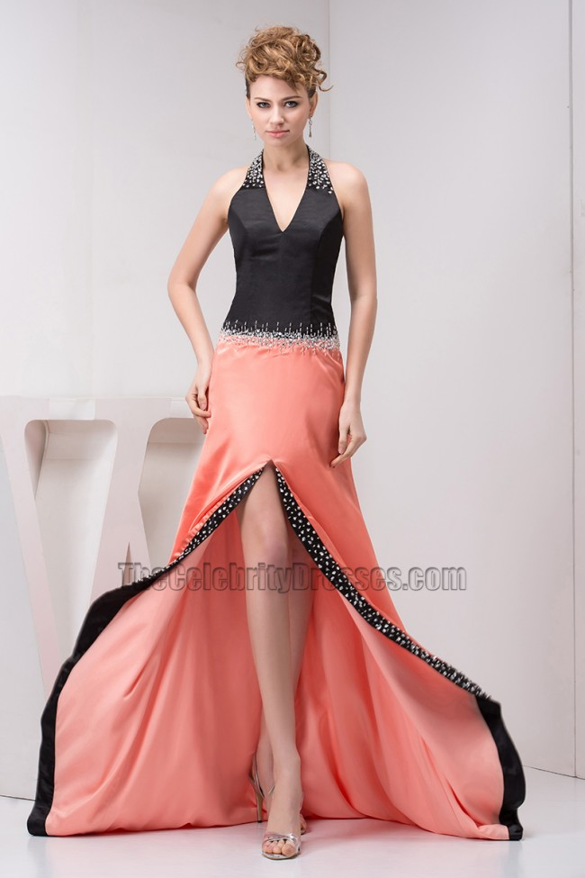 Sexy Halter A-Line Formal Gown Prom Evening Dresses ...