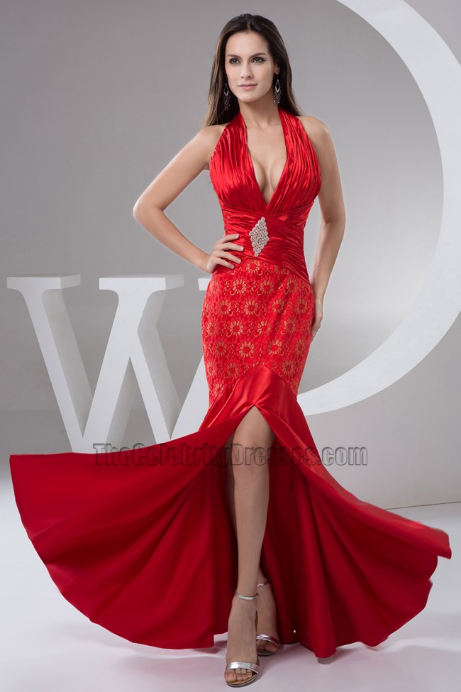 Sexy red dress evening gown