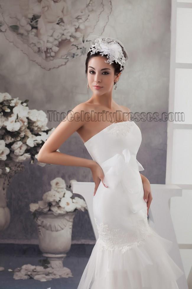 Sheath column floor length strapless bridal gown wedding for Free wedding dress catalog