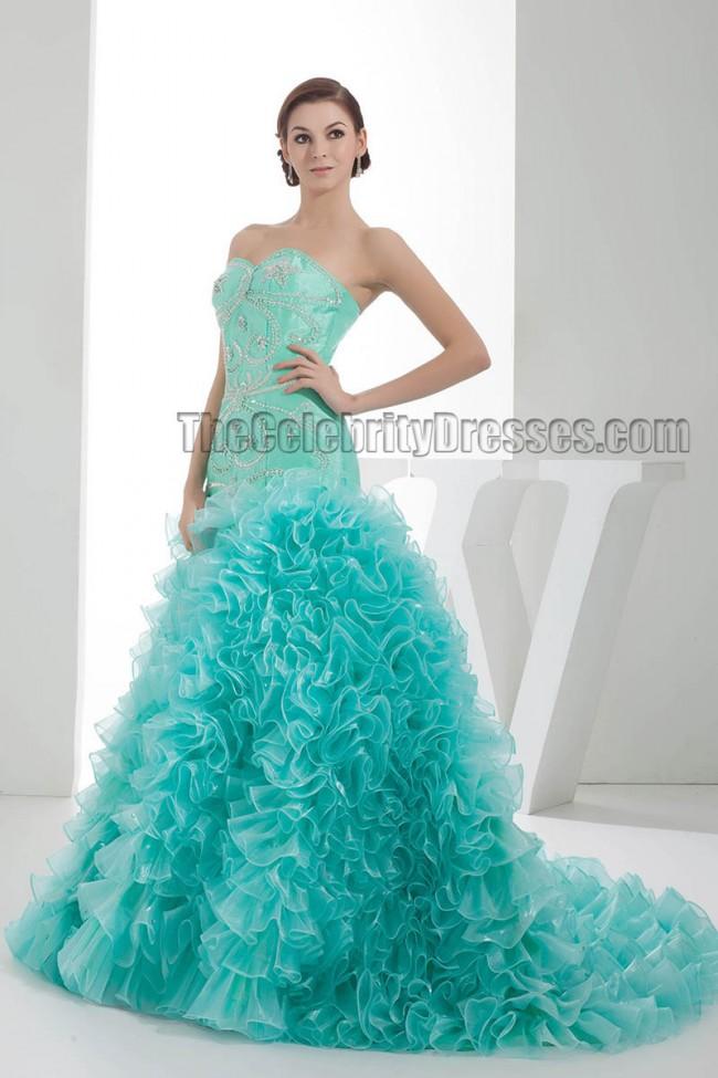 Stunning Trumpet Mermaid Beaded Formal Evening Dresses