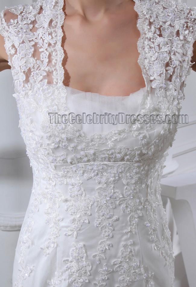 Trumpet mermaid cap sleeves chapel train wedding dresses for Trumpet mermaid wedding dress with sleeves