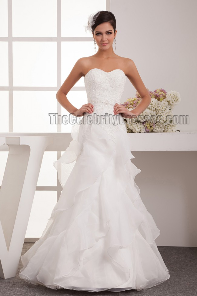 A line strapless sweetheart floor length wedding dress for Free wedding dress catalog