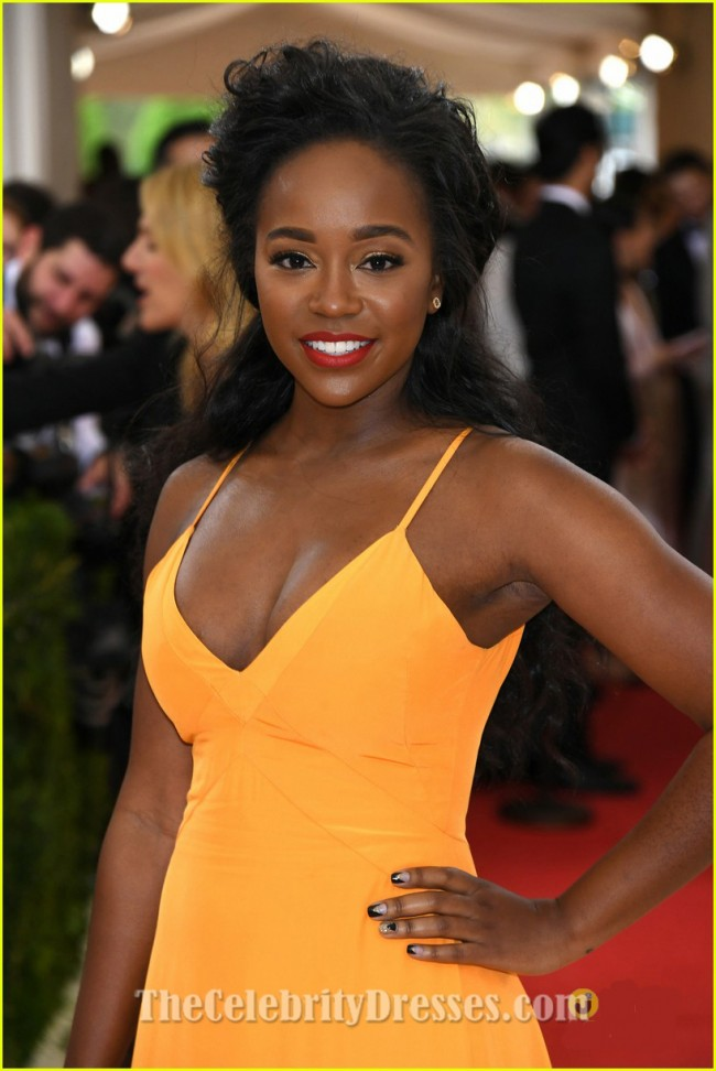 Aja Naomi King 2016 Met Gala Red Carpet Celebrity Evening