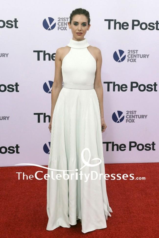 Alison Brie Halter Mint Green A Line Evening Dress The Post Washington Dc Premiere Red