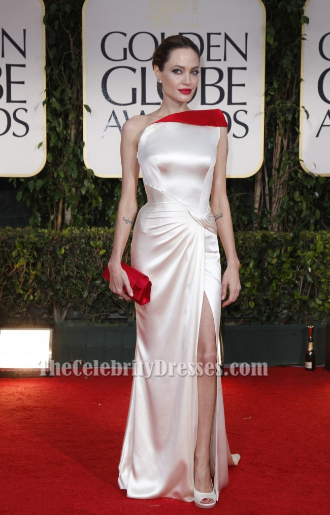 Angelina Jolie One Shoulder Prom Dress Evening Gown 2012 ...