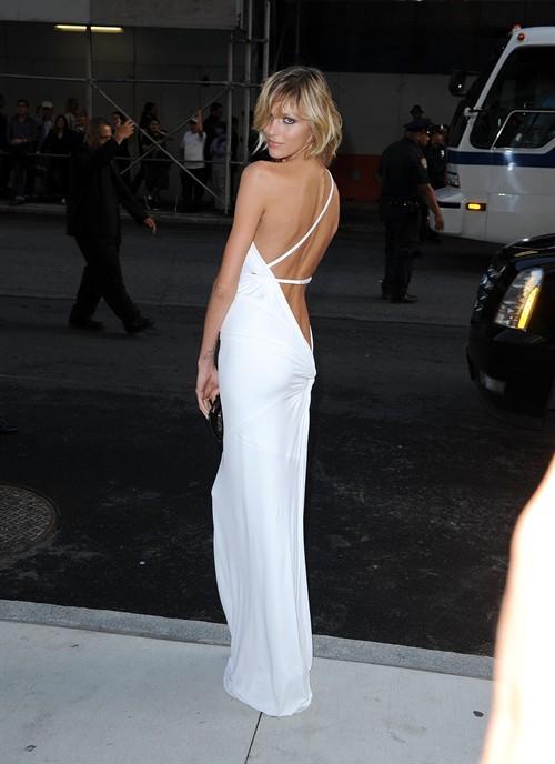 Anja Rubik Sexy Evening Dress 2009 Cfda Awards Celebrity