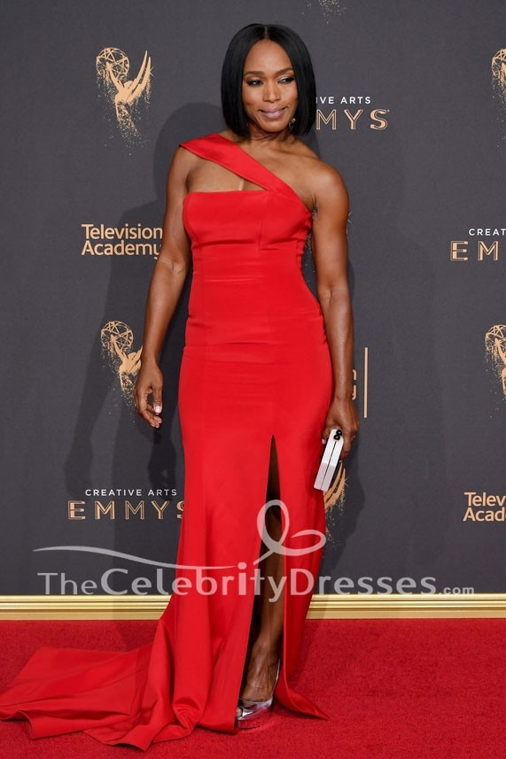 Angela Bassett 2017 Creative Arts Emmy Awards Red Evening