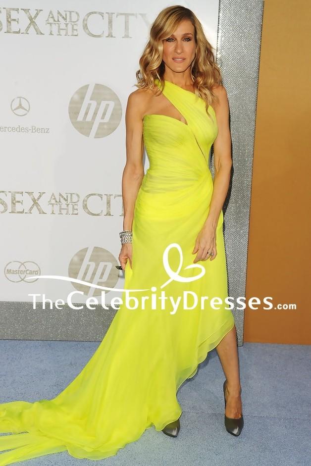 c763253d439 Sarah Jessica Parker Yellow Evening Dress