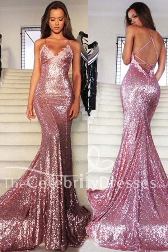 Pink Spaghetti Strap Dresses