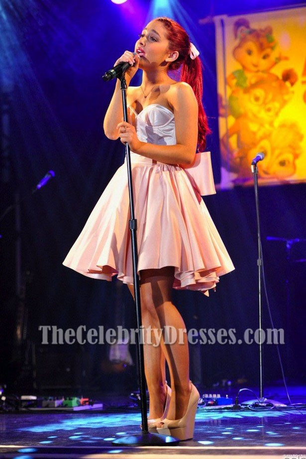 Ariana grande fit and flare dress alvin and the chipmunks for Ariana grande wedding dress