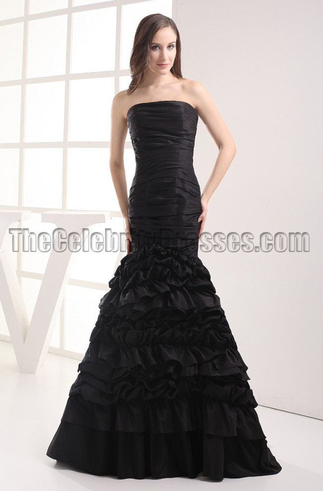 Gorgeous Black Strapless Mermaid Formal Dress Prom Gown ...