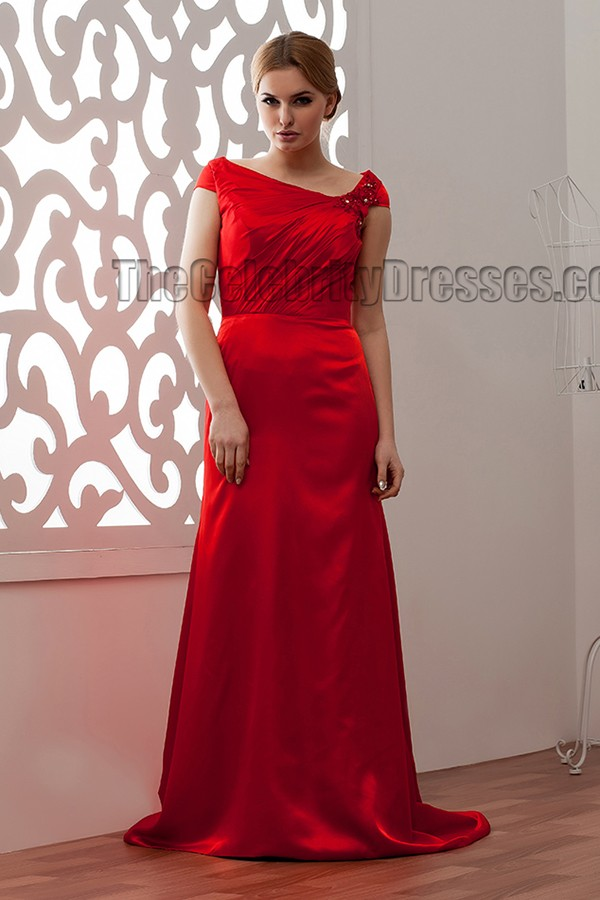 Discount Sheath Column Red Prom Gowns Evening Dress