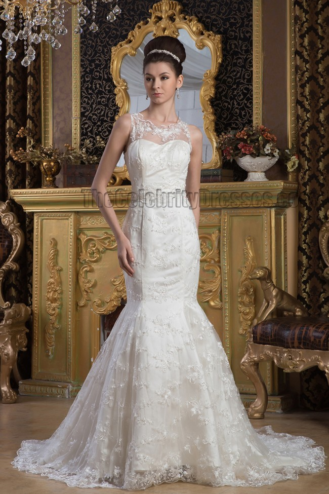 mermaid trumpet wedding dress trumpet mermaid lace sleeveless wedding dress 5838
