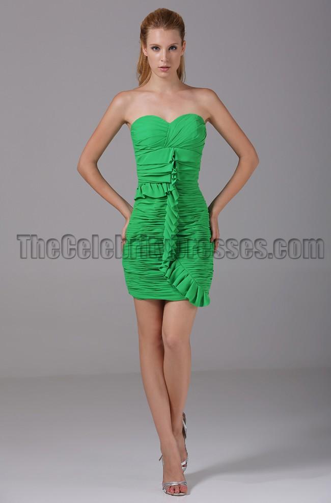 Short Green Strapless Dress