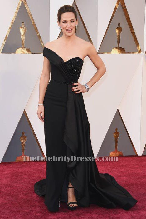 Jennifer Garner Black Formal Dress 88th Annual Academy