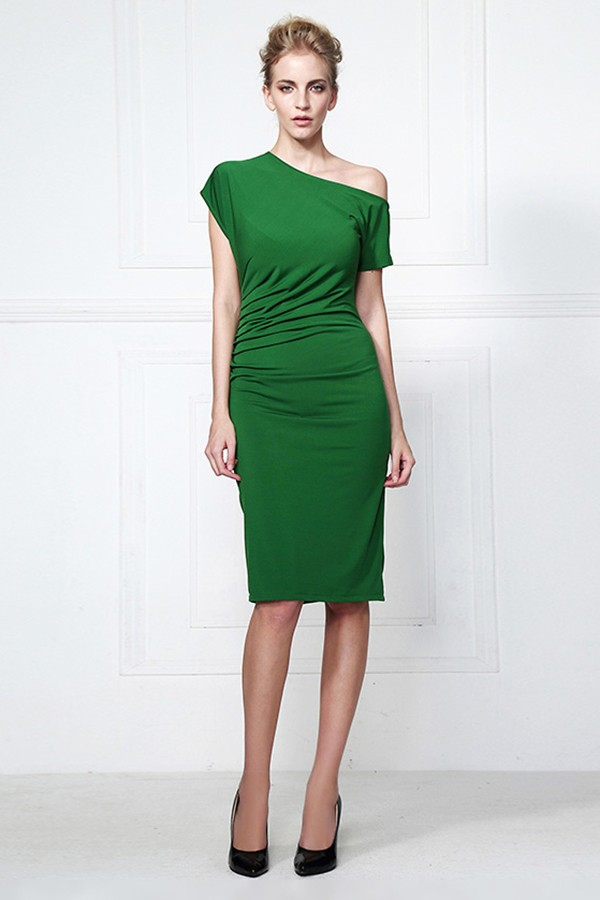 Knee Length Green Party Cocktail Dresses Thecelebritydresses