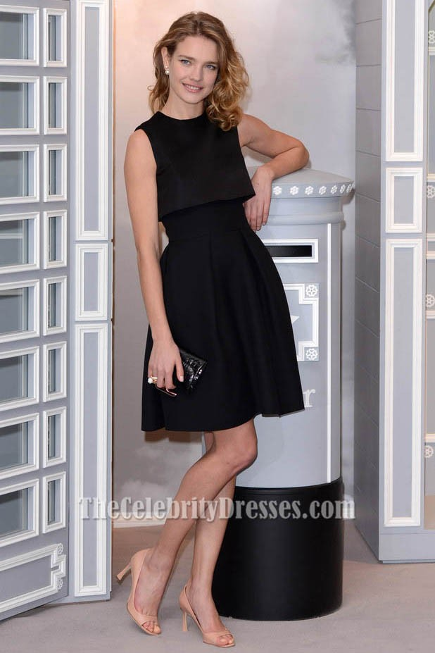 Natalia Vodianova Short Party Dress Little Black Dresses On Sale at ...