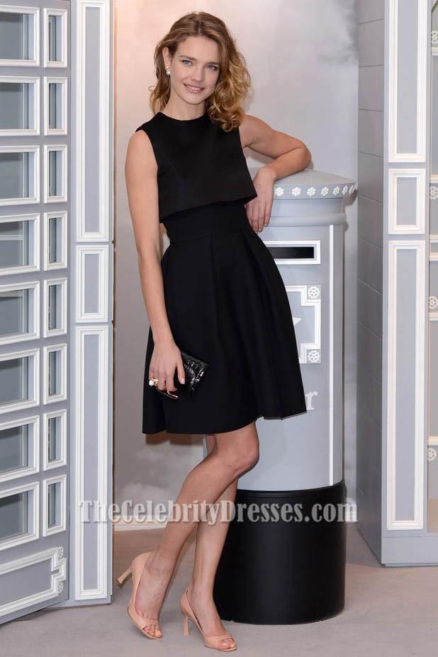 Natalia Vodianova Short Party Dress Little Black Dresses On Sale ...