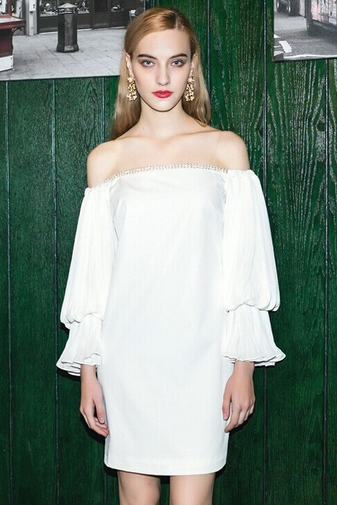 Sexy Short White Off-the-Shoulder Party Cocktail Dresses ...