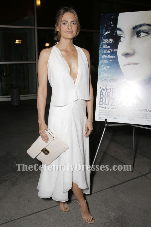 stana katic sexy evening dress white bird in a blizzard