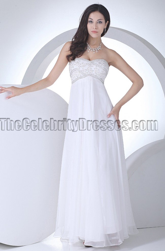 Strapless sweetheart a line beaded wedding dress prom gown for Sweetheart strapless a line wedding dress