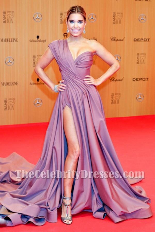Sylvie Meis One Shoulder Formal Dress 2015 Bambi Awards Red Carpet