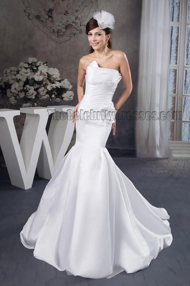 Mermaid Wedding Dress With Chapel Train : Wedding dresses trumpet mermaid strapless chapel train dress