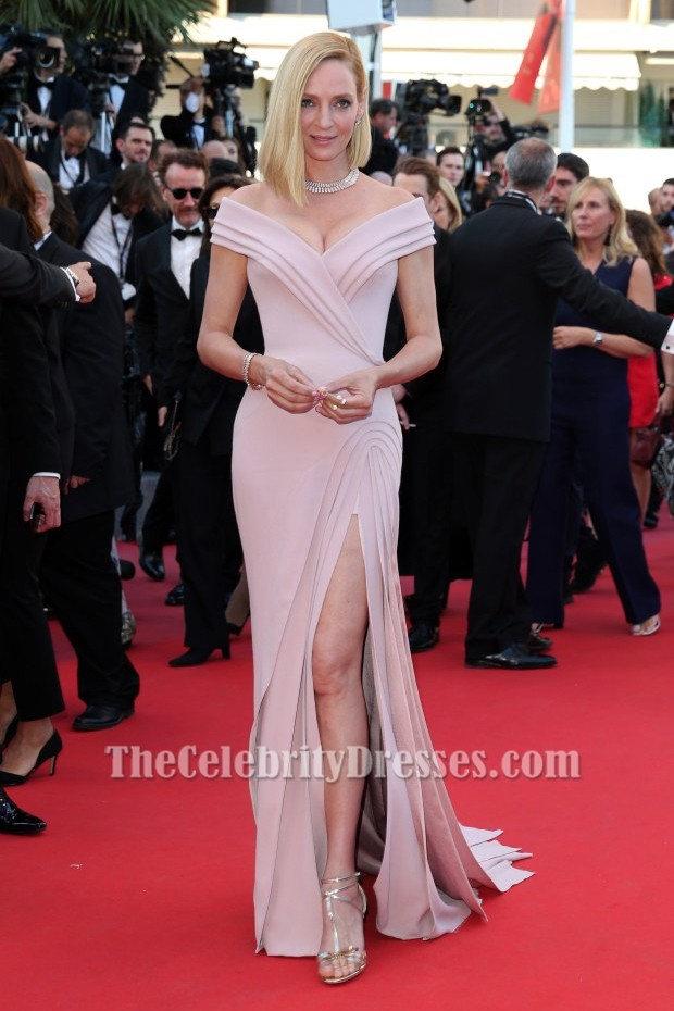 2c6d5996af Uma Thurman Cannes Film Festival 2017 Red Carpet Evening Dress TCD7246