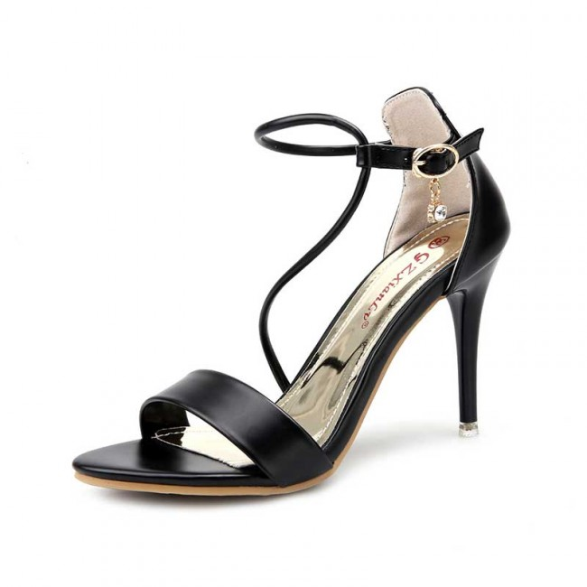dc5ee9447ec ... Ankle Strap Buckles Shoes For Women. Black Transparent Summer Boot Sexy  High Heels Fish Mouth Peep Toe Sandals