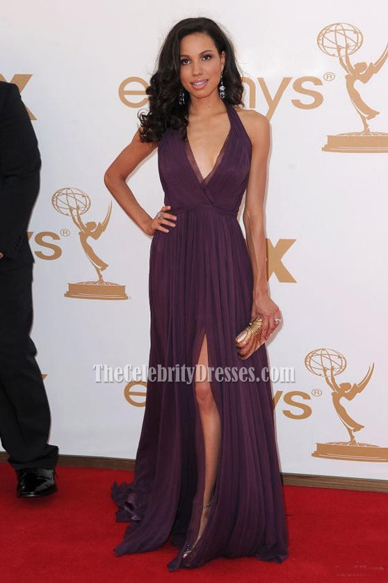 2011 Emmy Awards Red Carpet Dresses Jurnee Smollett Deep V
