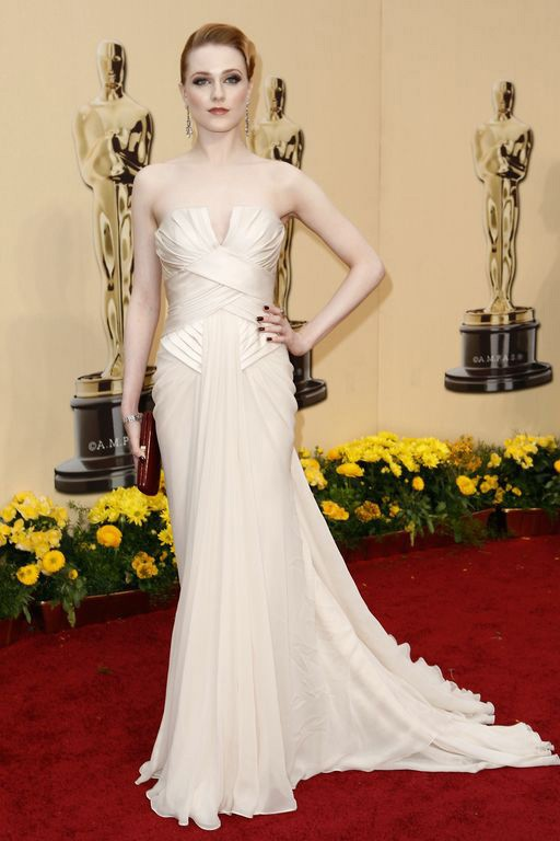 Celebrity dresses evan rachel wood formal evening gown 2009 oscars red carpet thecelebritydresses - Dresses from the red carpet ...