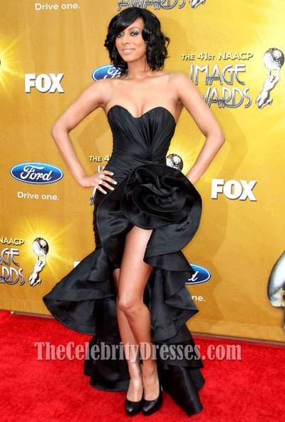 Keri Hilson red carpet  Gowns  Strapless dress formal