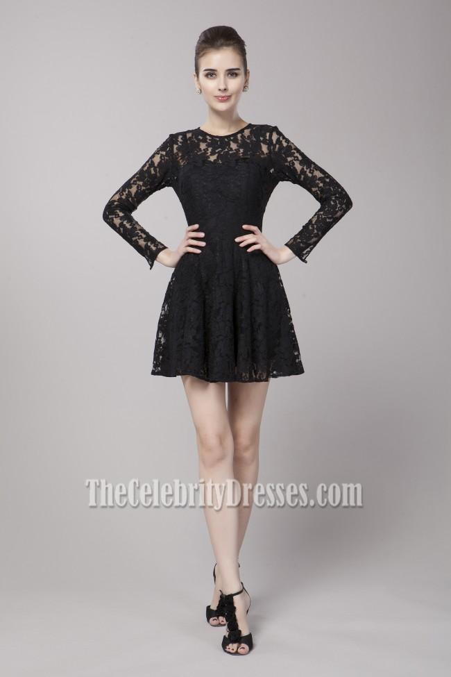 Celebrity Inspired Short Long Sleeve Party Little Black ...
