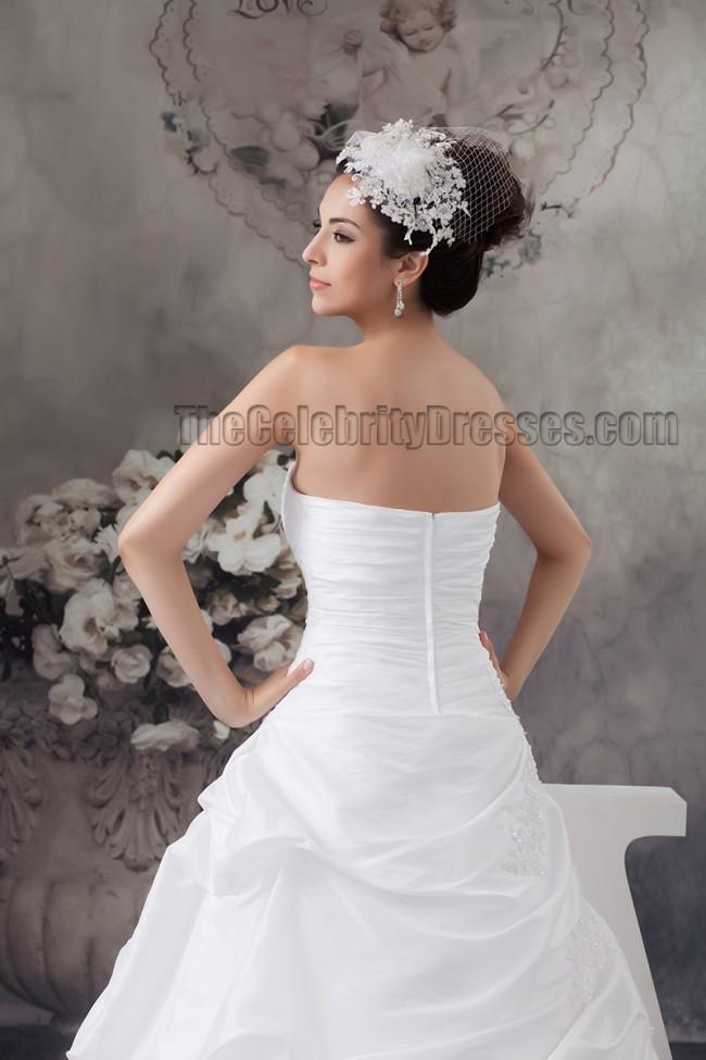 Celebrity Wedding Dress Inspiration : Celebrity inspired strapless ball gown beaded wedding dresses