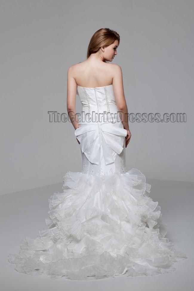 Celebrity Wedding Dress Inspiration : Dresses celebrity inspired strapless mermaid wedding dress with
