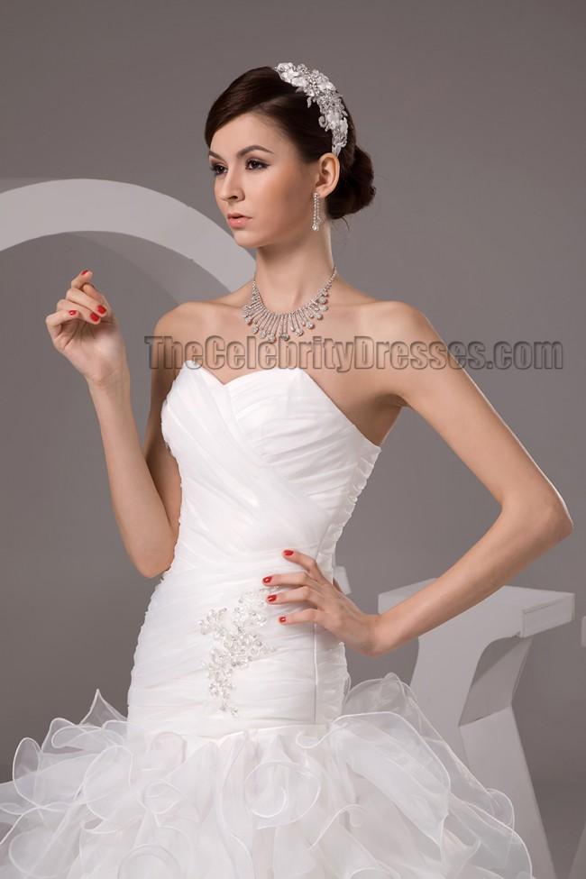 Celebrity Wedding Dress Inspiration : Dresses celebrity inspired strapless trumpet mermaid wedding