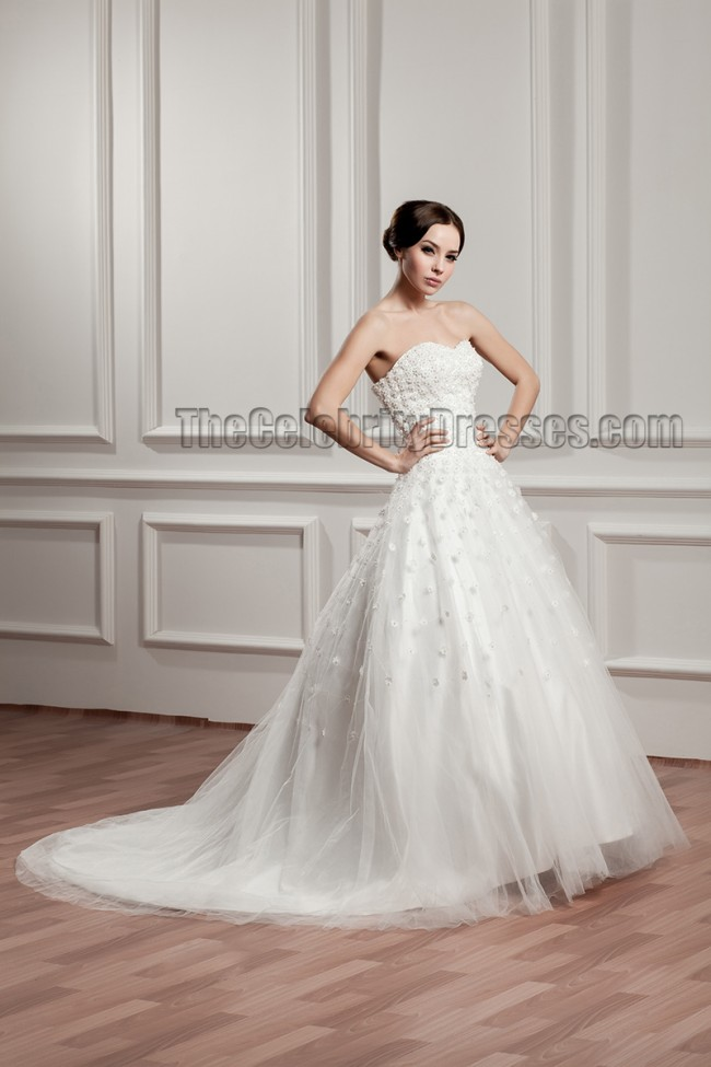 Celebrity Wedding Dress Inspiration : Dresses celebrity inspired sweetheart strapless a line beaded wedding