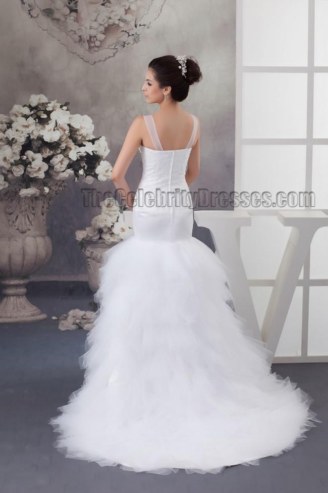 Celebrity Wedding Dress Inspiration : Celebrity inspired trumpet mermaid embroidered wedding dresses