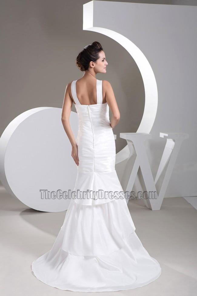 Celebrity Wedding Dress Inspiration : Celebrity inspired trumpet mermaid taffeta wedding dress
