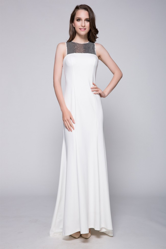 Silver And White Cocktail Dress